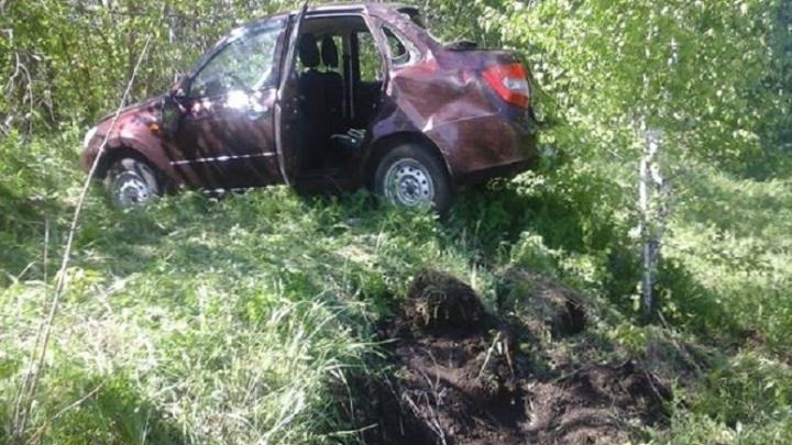 В Самарской области пьяный водитель улетел в кювет