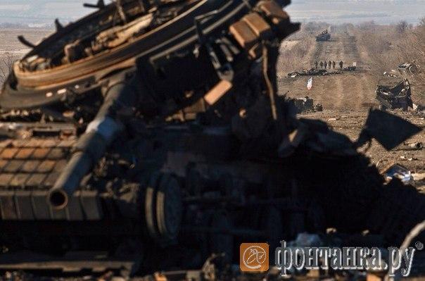 2015 год, украинский танк, трасса Дебальцево-Артемовск