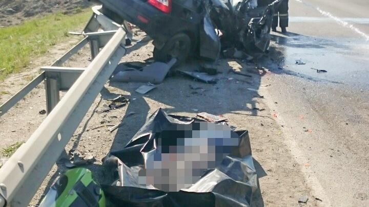 На Северном тракте в Челябинске в ДТП с автобусом погиб пассажир «Лады»
