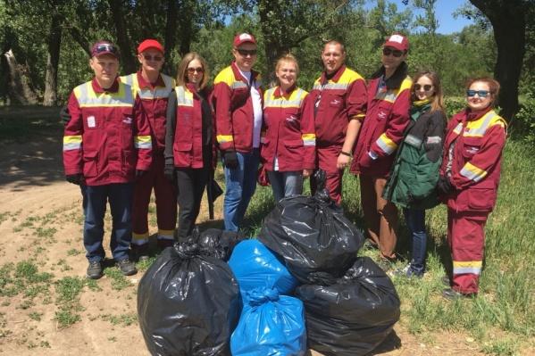 На ерике Гнилой собрали более пятидесяти мешков мусора