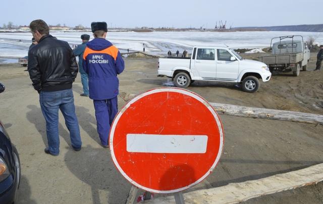 В Тюменской области закрыли ледовую переправу через реку Иртыш