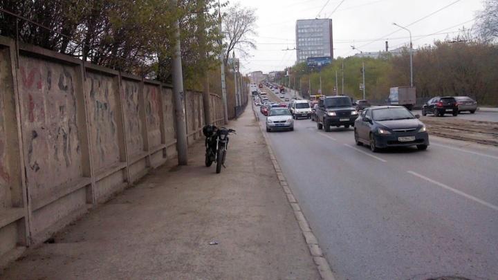 В центре Перми юноша на мотоцикле сбил пешехода