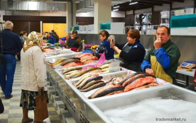 На Центральном рынке открылся новый рыбный павильон с ледяными прилавками