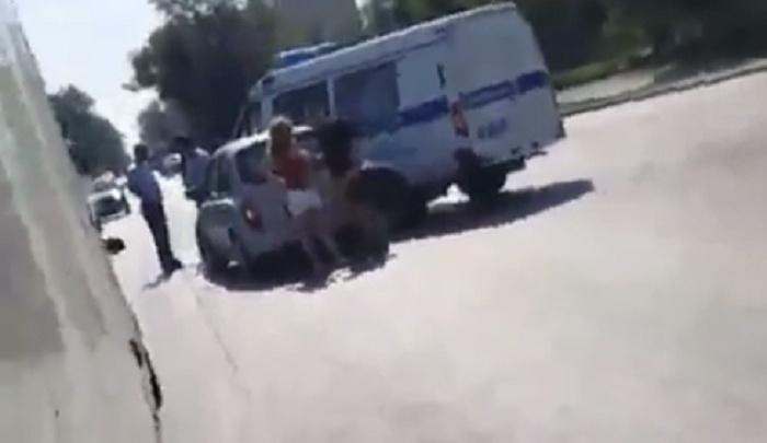Ростовчанка протаранила полицейскую «Газель» на Коммунистическом проспекте