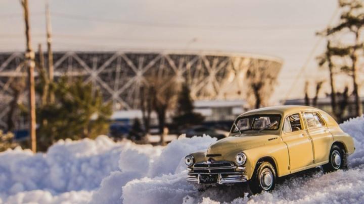 Лучше, чем настоящие: фотограф снял автомодели на фоне красот Волгограда