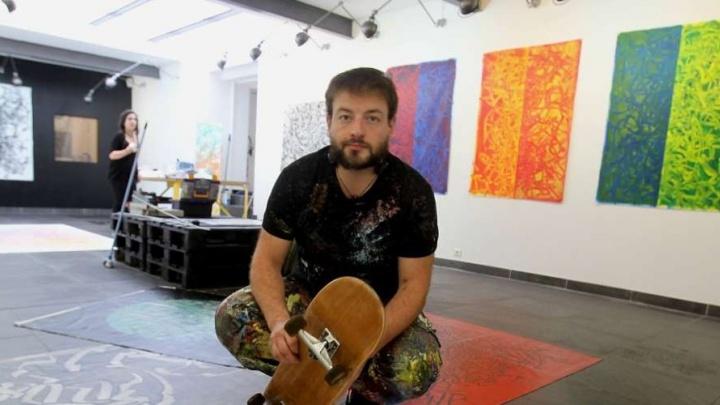 В Перми французский художник создаст картину, катаясь на скейтборде