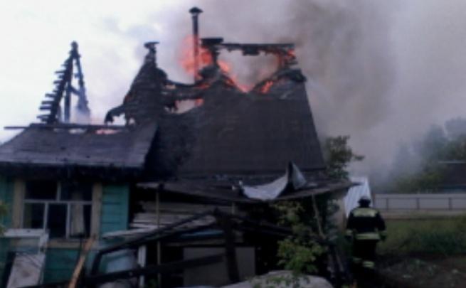 В Ярославской области горела баня