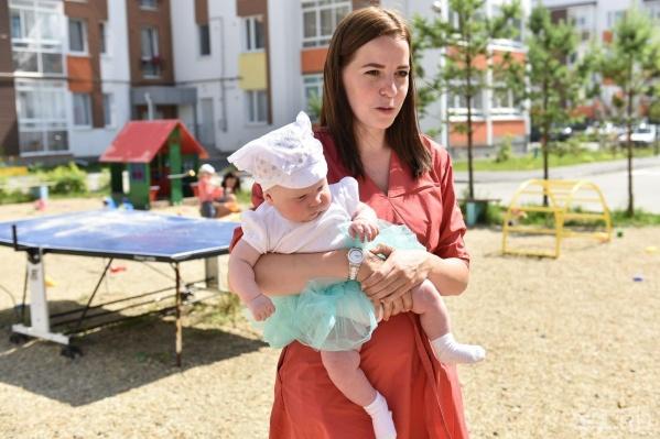 Мама двух малышей — одна из самых активных жительниц микрорайона.