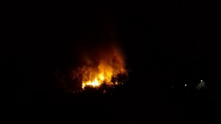 В Копейске ночью выгорел дом