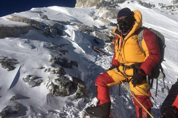 Олег Савченко на вершине планеты Земля