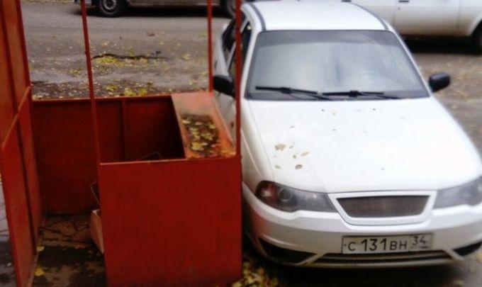 В Волгограде циклон «Гриша» валит деревья и крушит машины