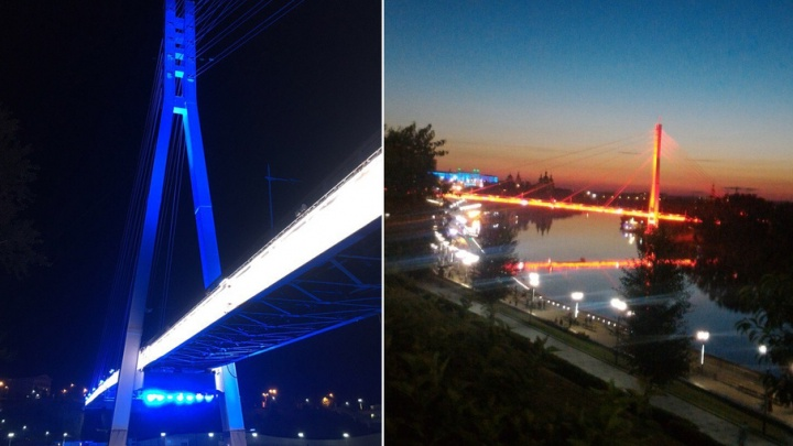 Контрольный пуск: во вторник тюменцам презентуют новую модную подсветку моста Влюбленных