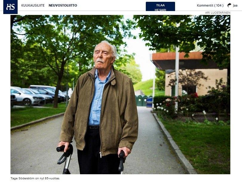 Таге Сёдерстрём сейчас 85 лет