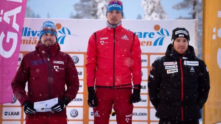 Отстраненный от участия в Олимпиадах тюменский лыжник Евгений Белов расплакался, выиграв гонку