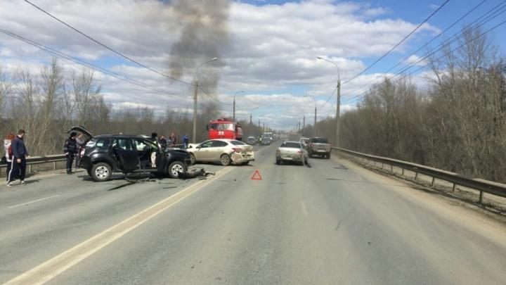 Стали известны подробности крупной аварии с 4 автомобилями на Южном мосту