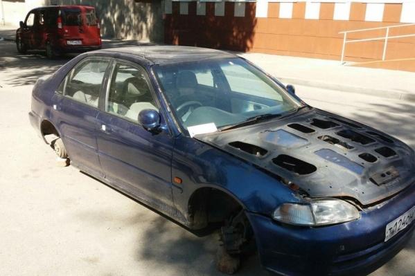 Местные жители предположили, что авто угнали и бросили