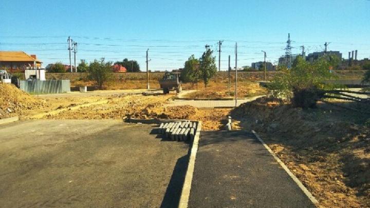 В Ворошиловском районе Волгограда доложили 35 метров забытого асфальта