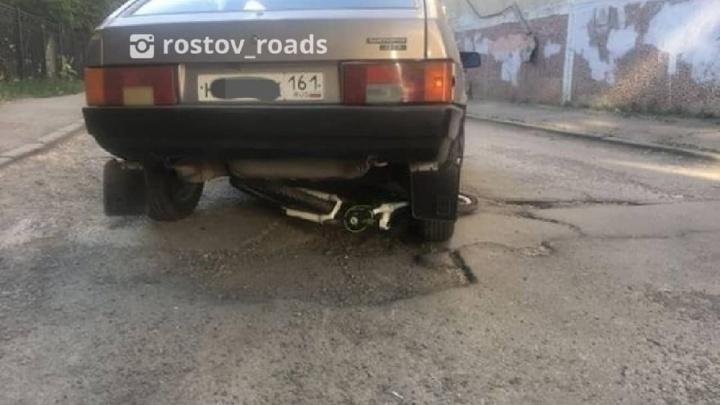 В Ростове прохожие задержали пьяного водителя «девятки», сбившего ребенка-велосипедиста