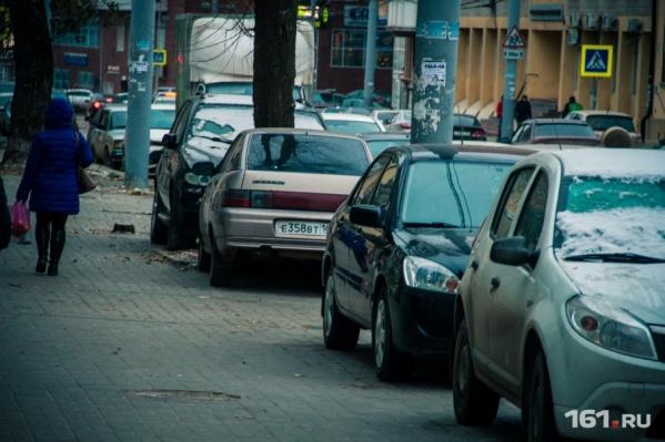 Ситуация с бесплатными парковками в центре города крайне напряженная
