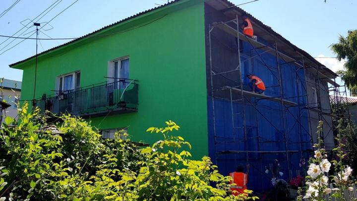 В селе Воскресенка по программе капремонта привели в порядок 88 многоквартирных домов