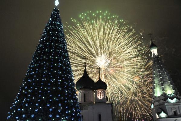 Организаторы новогодних гуляний постарались, чтобы у гостей было настроение настоящего праздника