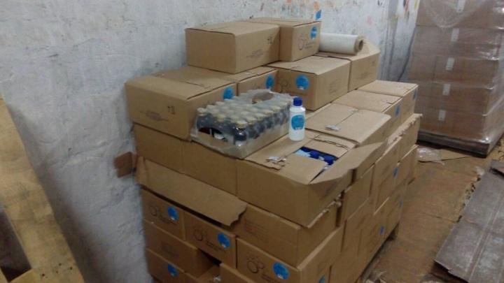 Челябинская полиция накрыла подпольный склад с сомнительным алкоголем