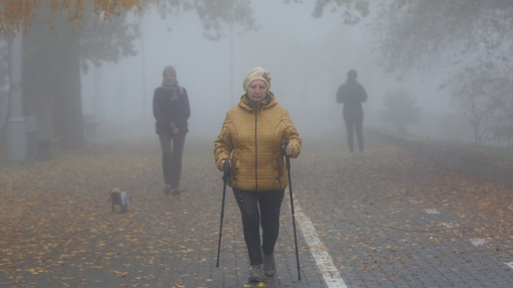 Волгоград окутал шестой по счету туман