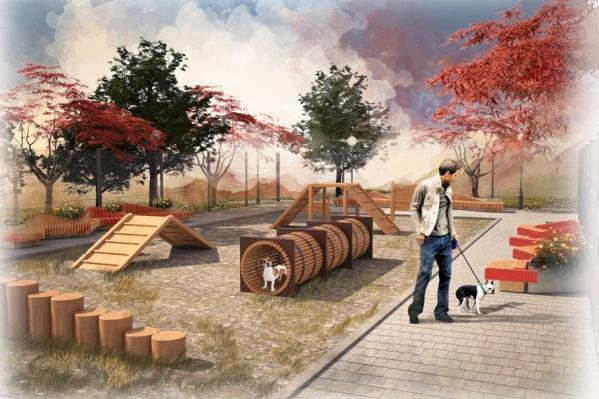 Особое внимание при создании проекта архитекторы уделили зоне отдыха с собаками