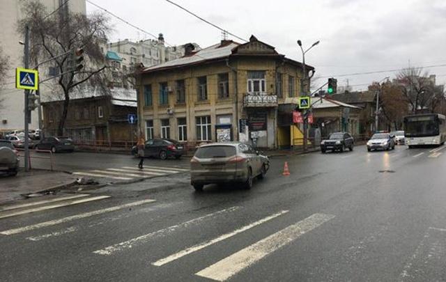 В Самаре на Чкалова/Самарской Ford не пропустил Toyota RAV4