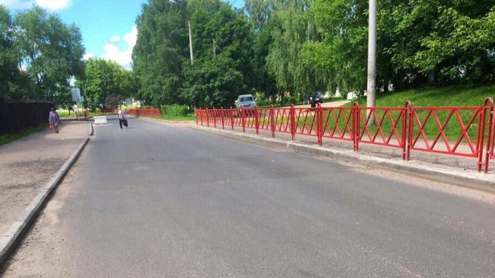 В Ярославле не приняли только что отремонтированную дорогу