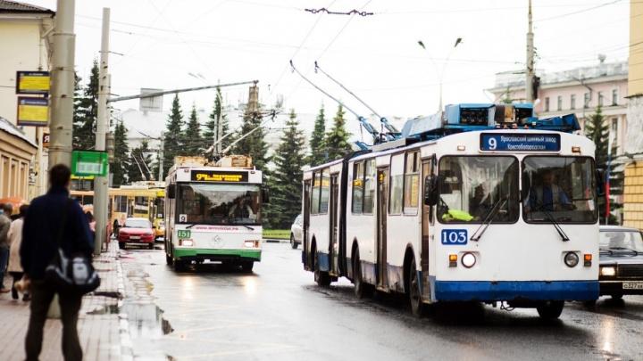В Ярославле из-за пожара встали все троллейбусы