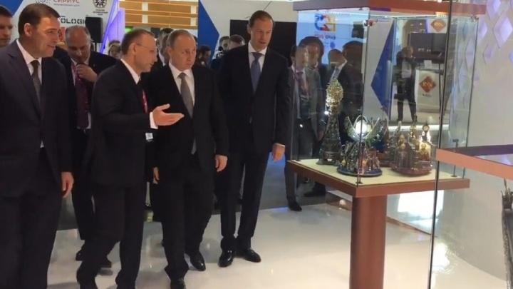 На выставке «ИННОПРОМ-2017» РМК презентовала Владимиру Путину «умную медь»