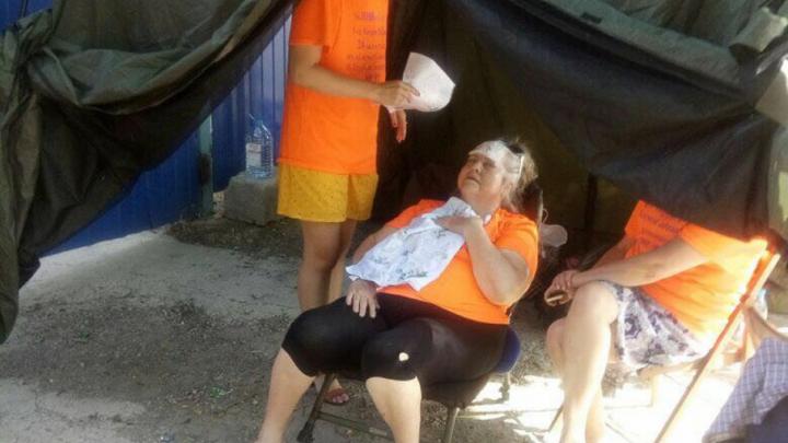 Обманутая дольщица с 1-й Баррикадной потеряла сознание на пятый день голодовки