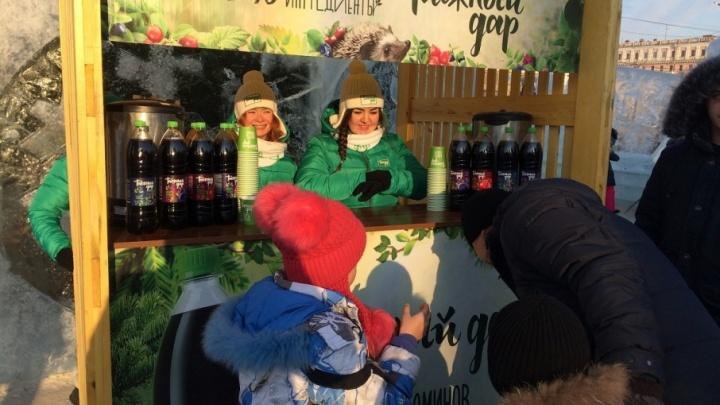 Как согреться в морозы: челябинцев ждут бесплатные дегустации напитков в ледовом городке