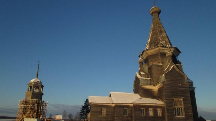 В Онежском районе колокольню XVII века отреставрируют в 2018 году