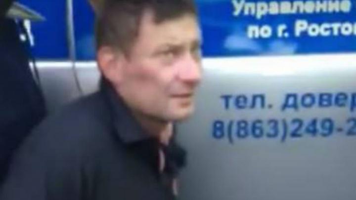 «Я же мент»: опубликовано видео задержания убийцы девушки и отца под Ростовом