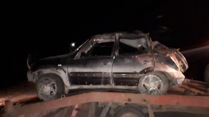 Ночное ДТП с переворотом в Челябинской области унесло жизнь человека