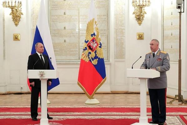 Встреча президента и генерала состоялась в Кремле