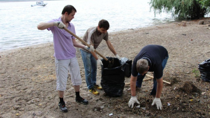 Чистый берег – чистая вода: ростовский Водоканал очистил от мусора берег Дона