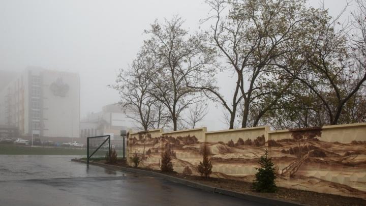 На заборе больницы вместо ругательств и граффити нарисовали волгоградский пейзаж