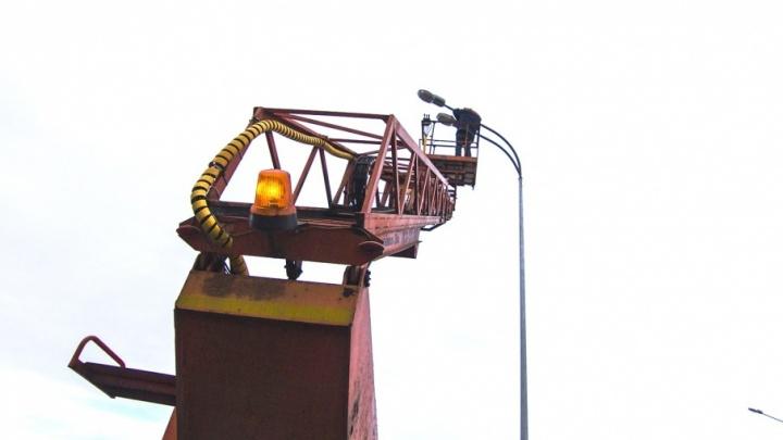 Освещение на Волжском шоссе включат в марте–апреле