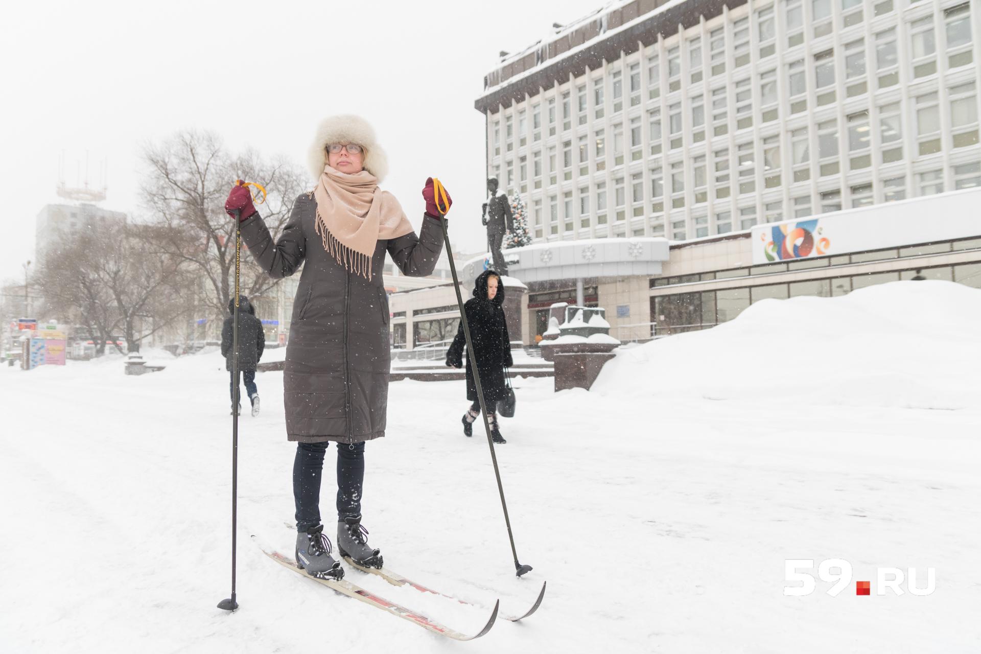 Прокладываем лыжню по улице Ленина