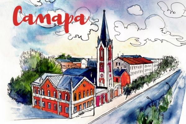Улица Куйбышева украсила одну из 17 открыток