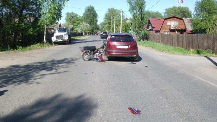 В Ярославле «Форд» сбил 15-летнего подростка на мопеде