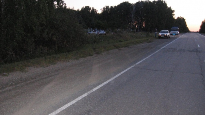 Таксист из Челябинска угодил в ДТП на ночной трассе