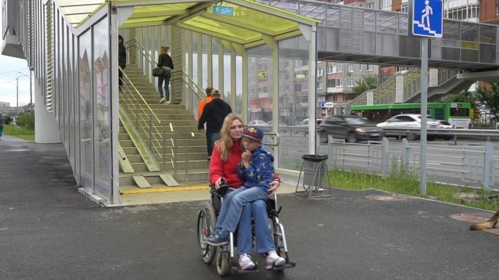 По городу на инвалидной коляске: тюменцы сняли на GoPro, как прогулка становится полосой препятствий
