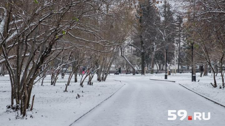 На этой неделе в Пермь придут снегопады и потепление