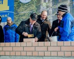 Губернатор региона заложил первый камень в микрорайон «Красный Аксай»