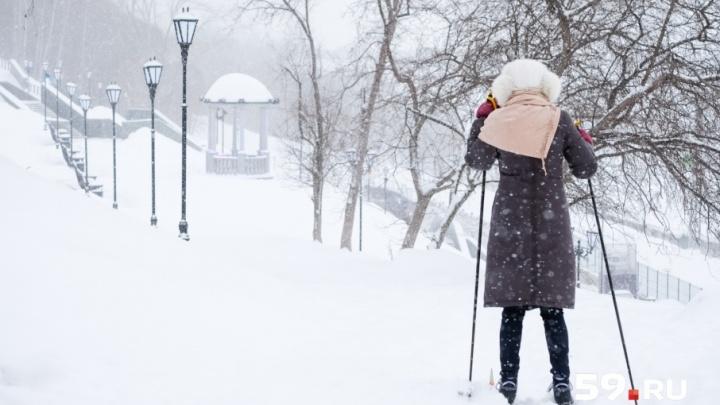 Снегопад в Перми сделает перерыв до конца недели