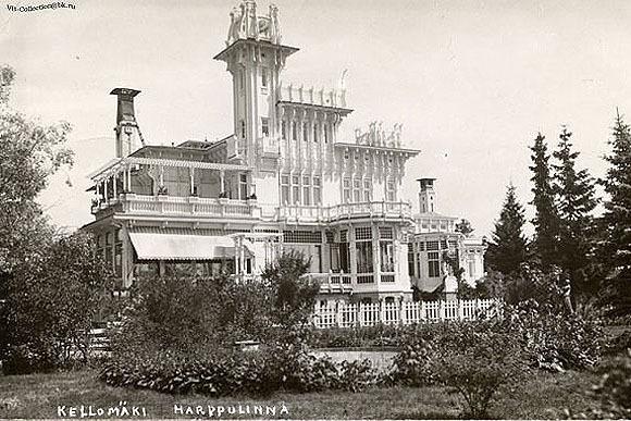 """Замок (вилла) """"Арфа"""" - собственная дача петербургского архитектора Г. В. Барановского. Погибла во время войны."""